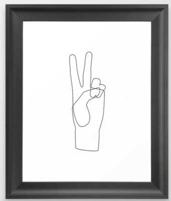 Peace Framed Art Print - Society6