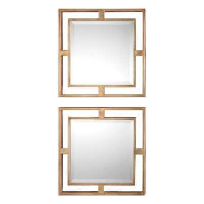2 Piece Traditional Beveled Mirror Set (Set of 2) - Wayfair