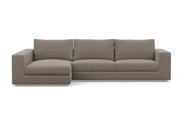 """WALTERS Sectional Sofa with Left Chaise, 111"""", Oyster Mod Micro - Interior Define"""