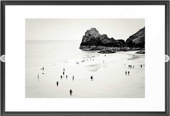 "Cornwall beach life - 26"" x 38"" - scoop  black - Society6"