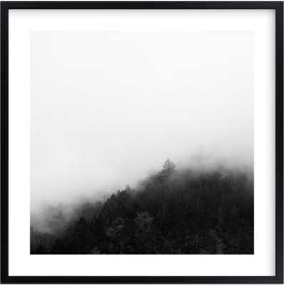 mystify - 24x24 - matte black frame with white border - Minted