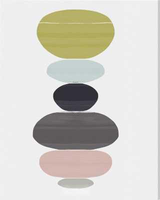 'Perfect Balance Abstract Art' Wrapped Canvas Print - Wayfair