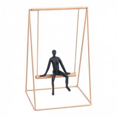 Swing Small Sculpture Black & Gold - Zuri Studios