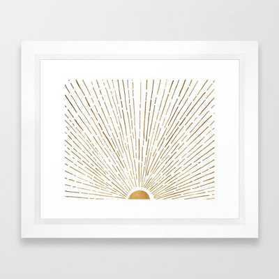 """Let The Sunshine In Framed Art Print - 10""""x12"""" - Society6"""