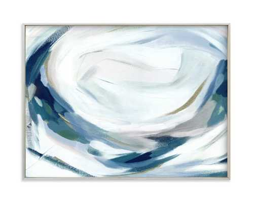 "Abstract Laurel  FRAMED ART PRINT-  18"" X 24""- champagne frame - Minted"