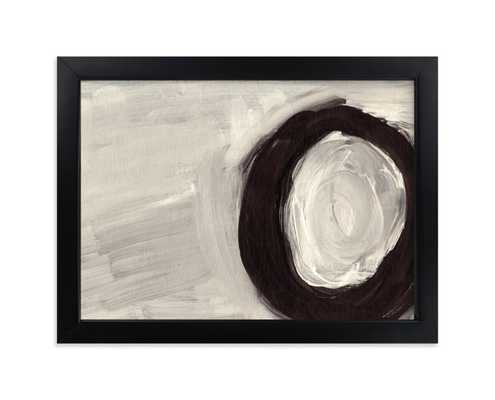 """round and round ; rich black wood frame; standard plexi; 5""""x7"""" - Minted"""