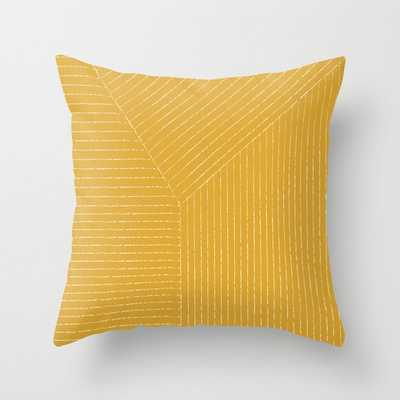 Lines / Yellow Throw Pillow - Society6