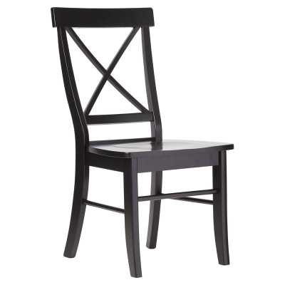 Sawyer Cross Back Solid Wood Dining Chair- set of 2 - Wayfair