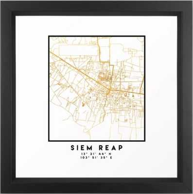 SIEM REAP CAMBODIA CITY STREET MAP - Society6