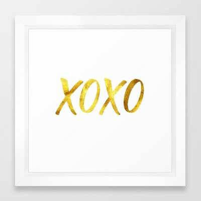 XOXO Framed Art Print - Society6