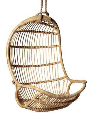 Hanging Rattan Chair - Natural - Serena and Lily