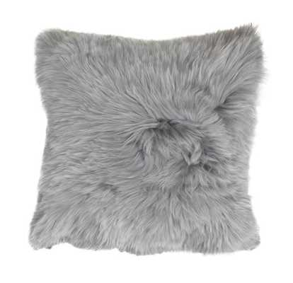 ALPACA 20 IN. SQUARE SILVER THROW PILLOW - Mitchell Gold + Bob Williams