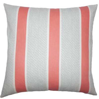 "Velten Striped Pillow - 20"" x 20"" with Down Insert - Linen & Seam"