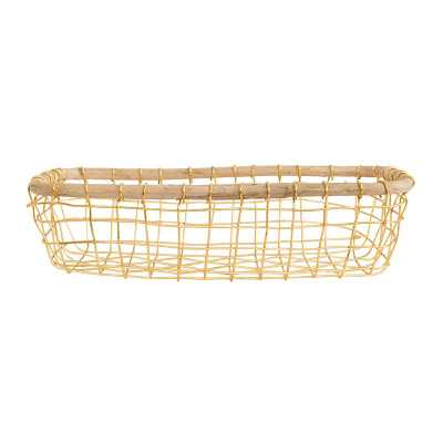 GOLD WIRE BASKET - McGee & Co.
