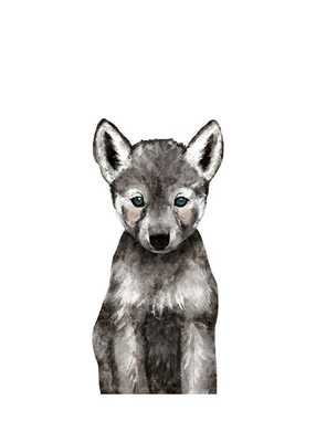 Baby Animal Wolf - Unframed - Minted