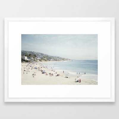 "Laguna Beach Framed Art Print - Scoop White - 20"" X 26"" - Society6"