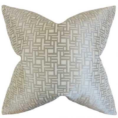 "Daphnis Geometric Pillow Grey - 18"" x 18"" -  Down insert - Linen & Seam"