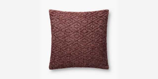 P4096 ED BURGUNDY - pillow cover with down insert - Loma Threads