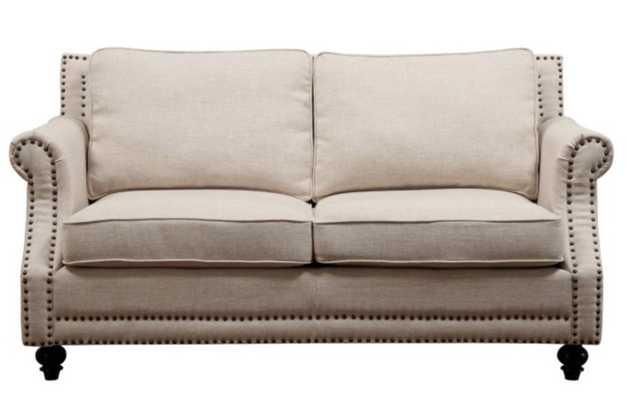 TOV Furniture Camden Linen Loveseat - Beige - Hayneedle