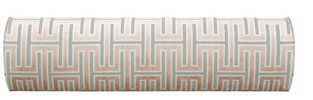 The Bolster :: Grecian Cut Velvet // Blush - Little Design Company