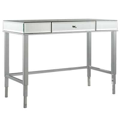Guidinha Writing Desk - Chrome bevelled mirror - Wayfair