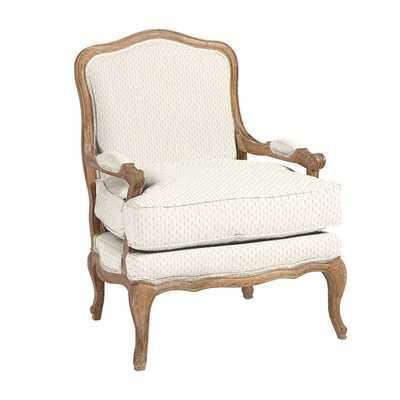 Louisa Bergere Chair - DIMPLE SALT SUNBRELLA PERFORMANCE - Ballard Designs