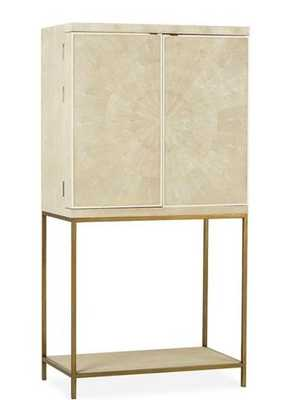 Melissa Bar Cabinet, Ivory/Brass - One Kings Lane