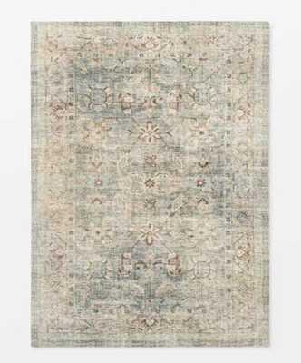 Ledges Digital Floral Print Distressed Persian Rug Green - Threshold™ designed by Studio McGee - Target