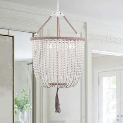 Angie 3 Light 18-Inch Dia Beaded Pendant - Cream - Arlo Home - Arlo Home