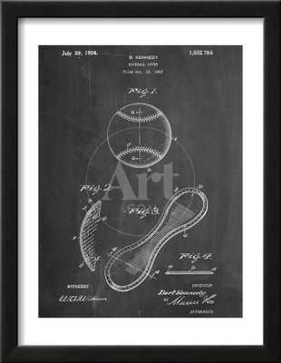 Baseball Patent 1923 - art.com