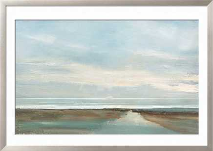 """After Glow - 54"""" x 36"""" - Frame Ronda Wide Silver - No Border - Giclee Print - Acrylic Clear Glass - art.com"""