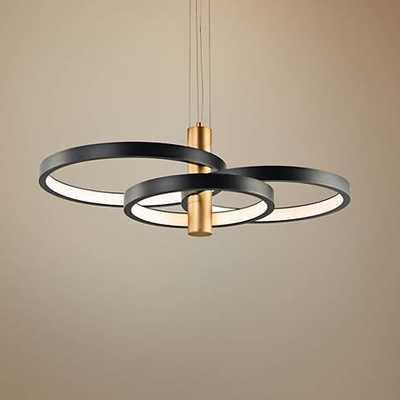"ET2 Hoopla 33 1/2""W Black and Gold 4-Light LED Pendant Light - Lamps Plus"