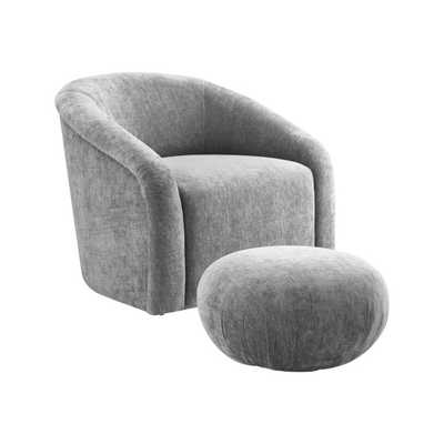 Caroline Morgan Skye Chair and Ottoman Set - Maren Home