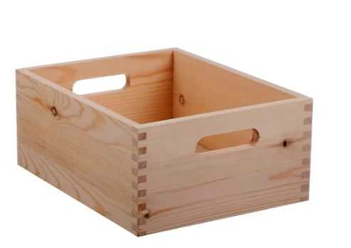"""Hand Made Modern Small Wood Crate, Square - 5"""" x 12"""" x 9"""" - Target"""