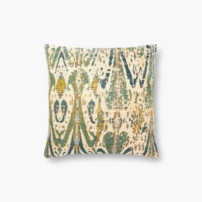 "Loloi PILLOWS - INDOOR / OUTDOOR P0878 Green / Multi 18"" x 18"" Cover w/Poly - Loma Threads"