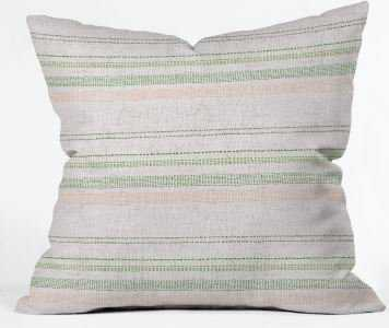 FRENCH LINEN STRIPE BLUSH Indoor Throw Pillow Cover By Holli Zollinger - Wander Print Co.
