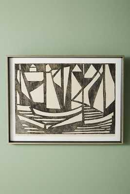Woodcut Boats Wall Art - Anthropologie