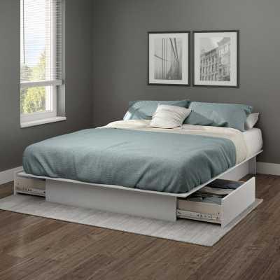 Step One Platform Bed - soft grey - Wayfair