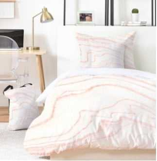 BLUSH MARBLE Bed In A Bag - Full/Queen - Wander Print Co.