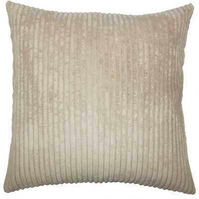 """Calvine Solid Pillow - Taupe - 20"""" x 20""""- down pillow insert - Linen & Seam"""