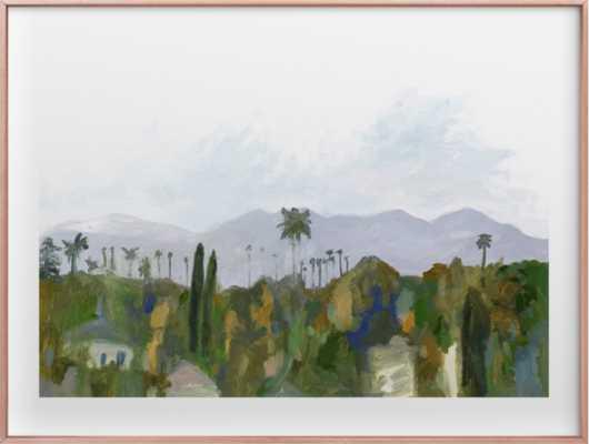 Los Angeles Landscape wall art - Minted