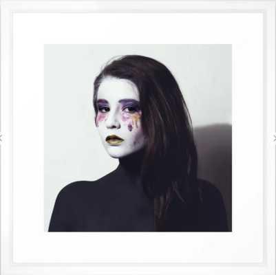 Makeup Smeared Eyes Framed Art Print - Society6