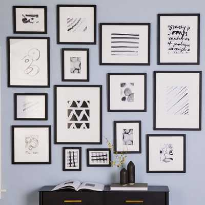 Gallery Frames, Black, Set of 15 - West Elm