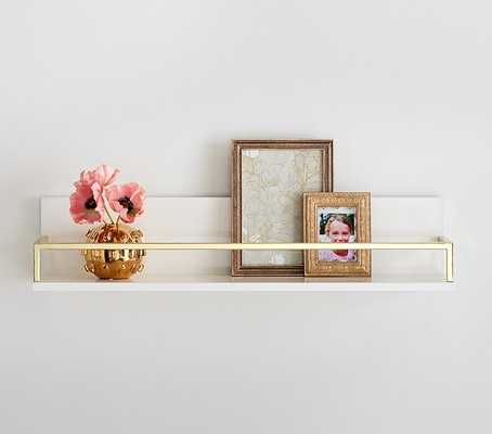 Polished Shelving, White/Gold, 2ft - Pottery Barn Kids