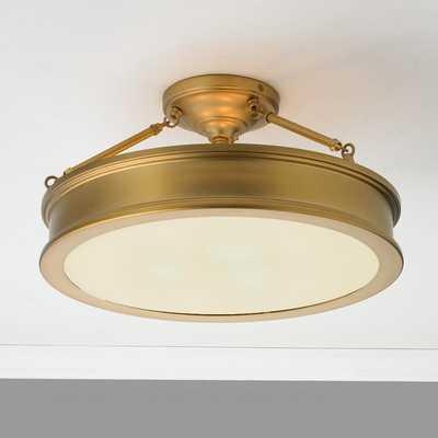 Traditional Urban Semi Flush Ceiling Light - Shades of Light