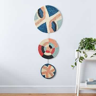 Woven Wall Hanging, Multi, Set of 3 - West Elm