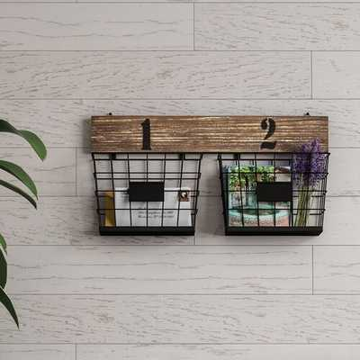 Moncrief Hanging Double Wall Storage with Wall Baskets - Wayfair