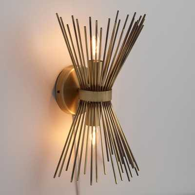 Brass Starburst Logan Wall Sconce by World Market / plug-in - World Market/Cost Plus