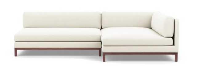 Jasper Long, Deep Right Chaise Sectional Sofa, Walnut Legs - Interior Define