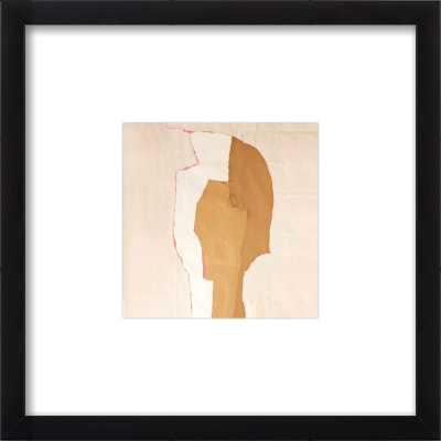 "Abstract Head by Boriana Mihailovska - 14x14 - Matte Black Metal frame, with  2.75"" white matte - Artfully Walls"